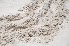 Alta sabbia del dettaglio o sabbia della silice Fotografie Stock