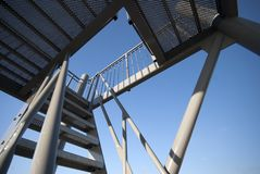 Alta scala d'acciaio alta Immagine Stock