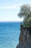 Alta scogliera al Mar Baltico, Luebeck Travemuende della costa Fotografie Stock