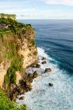 Alta scogliera al tempio di Uluwatu, Bali, Indonesia Fotografia Stock Libera da Diritti
