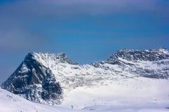 Alta scogliera in inverno Fotografia Stock
