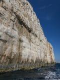 Alta scogliera nelle isole Croazia di Kornati Fotografie Stock Libere da Diritti