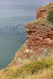 Alta scogliera sopra il mare Fotografia Stock