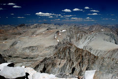 Alta sierra dalla sommità di Mt Whitney Fotografia Stock