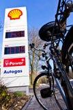 Alta soluzione di prezzi di gas Fotografia Stock
