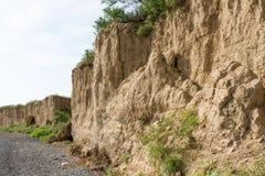 Alta spiaggia dell'argilla Fotografie Stock