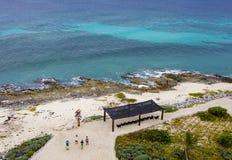 Alta spiaggia ultra tagliente di paradiso di ricerca da sopra Fotografia Stock Libera da Diritti