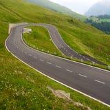 Alta strada alpina Immagini Stock