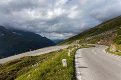 Alta strada alpina Fotografia Stock Libera da Diritti