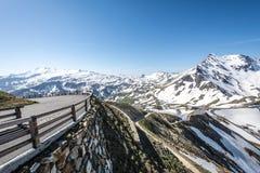 Alta strada alpina Immagini Stock Libere da Diritti