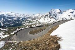 Alta strada alpina Fotografie Stock Libere da Diritti