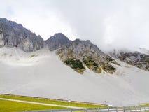 Alta strada alpina in Austria Fotografie Stock Libere da Diritti