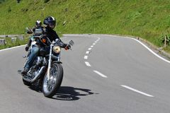 Alta strada alpina del motociclista del Grossglockner Fotografie Stock Libere da Diritti