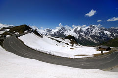 Alta strada alpina di Grossglockner Immagine Stock