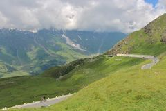Alta strada alpina di Grossglockner, Austria Immagini Stock Libere da Diritti