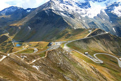 Alta strada alpina di Grossglockner (Hochalpenstrasse), Austria Fotografie Stock