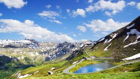 Alta strada alpina di Grossglockner. L'Austria Immagine Stock