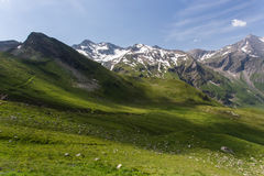 Alta strada alpina, Grossglockner Immagine Stock