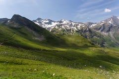 Alta strada alpina, Grossglockner Fotografia Stock