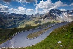 Alta strada alpina - Grossglocnkner Immagini Stock Libere da Diritti