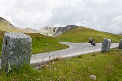Alta strada alpina - Grossglocnkner Fotografie Stock Libere da Diritti