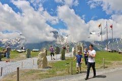 Alta strada alpina sopra Grossglockner Fotografia Stock