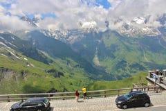 Alta strada alpina sopra Grossglockner Fotografie Stock Libere da Diritti