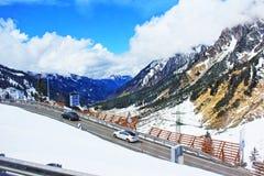 Alta strada Austria della montagna delle alpi Fotografie Stock Libere da Diritti