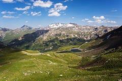 Alta strada di bobina alpina, Grossglockner Immagine Stock
