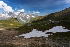 Alta strada di bobina alpina, Grossglockner Fotografie Stock
