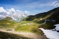 Alta strada di bobina alpina, Grossglockner Immagini Stock Libere da Diritti