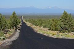 Alta strada principale del deserto Fotografie Stock Libere da Diritti