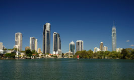 Alta subida de Gold Coast Foto de archivo
