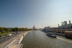 Alta subida en el kotelnicheskaya Quay fotografía de archivo