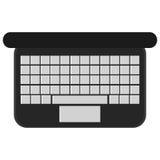 alta tastiera di visualizzazione del computer portatile Fotografia Stock Libera da Diritti