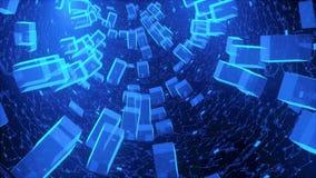 Alta tecnología abstracta del túnel del hardware ilustración del vector