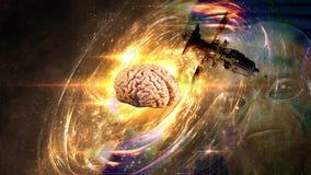 Alta tecnologia di ingegneria UFO Fotografia Stock Libera da Diritti