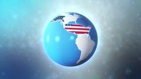 Alta tecnologia do território do Estados Unidos ilustração do vetor