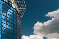 Alta tecnologia e cielo Fotografia Stock Libera da Diritti