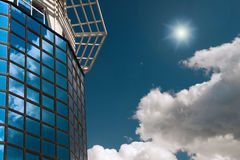 Alta tecnologia e cielo Immagine Stock Libera da Diritti