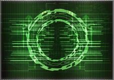 Alta tecnologia Grupo de linhas em um fundo verde Imagens de Stock Royalty Free