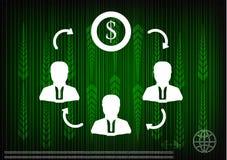 Alta tecnologia Grupo de setas em um fundo verde Imagens de Stock