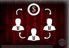 Alta tecnologia Grupo de setas em um fundo vermelho Fotografia de Stock
