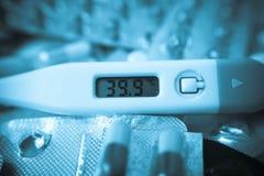 Alta temperatura corporea Immagine Stock Libera da Diritti