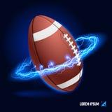 Alta tensione di football americano Fotografie Stock