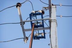 Alta tensione elettrica del Disconnector Fotografia Stock
