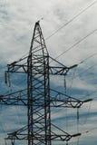 Alta tensione elettrica del palo della pagina Fotografia Stock Libera da Diritti