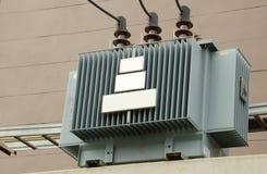 Alta tensione elettrica del trasformatore Fotografia Stock Libera da Diritti