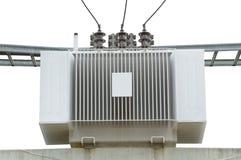 Alta tensione elettrica del trasformatore isolata Immagine Stock