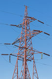 Alta tensione elettrica della torre Immagine Stock Libera da Diritti
